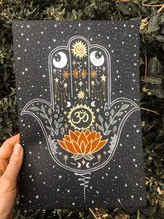 31 Ideas For Art Prints Plants Beautiful Painting Inspiration, Art Inspo, Hamsa Tattoo, Sanskrit Tattoo, Hamsa Art, Tea Art, Original Artwork, Art Drawings, Art Projects
