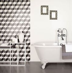 """""""Lappato"""" is an Italian word for semi polished/honed. They may be used in most indoor applications as well as wet area such as #bathroom. Pictured – Spazio Bianco #Italian Lappato Tile."""