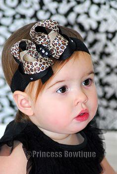 Leopard Bling Baby Headband
