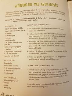 Vegoburgare med avokadosås