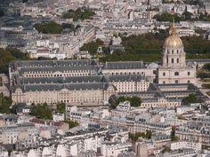 Paris, Les Invalides vus de la Tour Eiffel, août 2014