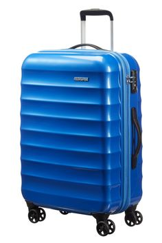American Tourister Palm Valley Spinner 67cm Blue Sparkle