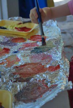 Painting on Aluminum Foil | Familylicious