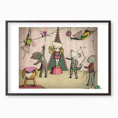 Circus Cats Giclee Art Print