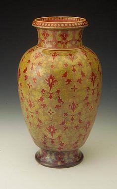 Zsolnay kerámia Korai eozinos váza, Perzsa mintával  1890. Made in Hungary