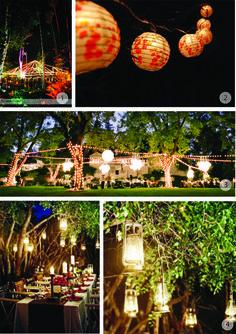a night Wedding  | like the idea of a night wedding
