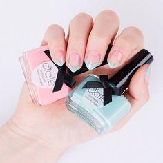 Pastel Negative Space Mani | Sephora Beauty Board #nailart