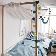 Cechy i korzyści Wygodne jednoosobowe łóżko z baldachimem. Na baldachim można narzucić tkaninę i stworzyć oryginalny, intymny klimat. Maksymalne obciążenie baldachimu - 5kg. Możliwy montaż łóżka na ...