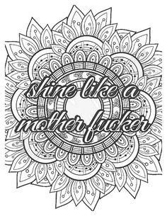 Skull Coloring Pages, Detailed Coloring Pages, Love Coloring Pages, Printable Adult Coloring Pages, Coloring Books, Swearing Coloring Book, Swear Word Coloring Book, Sayings, Priorities