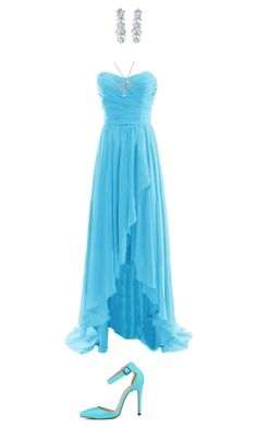 """""""Under the sea prom"""" by serenagaylord ❤ liked on Polyvore featuring Bling Jewelry and Posh Girl"""