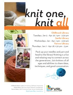 Knit one, knit all... yes!  #made-in-libraryaware