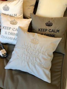 Keep Calm And Drink, Throw Pillows, Cushions, Decorative Pillows, Decor Pillows