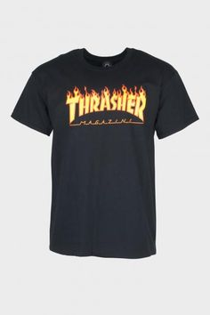 Thrasher - Tee Flame 16408 Teenage Outfits, New Outfits, Fashion Outfits, Big Fashion, Womens Fashion, Shirt Designs, Street Wear, Stylish, My Style
