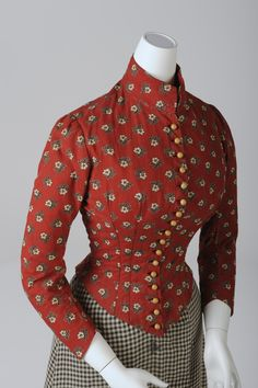 "europeanafashion: "" Simple Day Dress for Women, around 1890 Foto: Christa Losta © Wien Museum The colourful, printed bodice and the checkered skirt are a good example for the daily dress of domestic staff and the working class. Many sewed their own..."