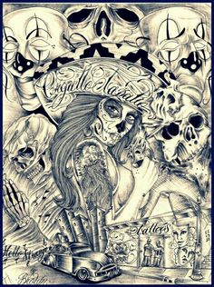 Chicano style Chicano Art Tattoos, Chicano Drawings, Body Art Tattoos, Tattoo Drawings, Behind Ear Tattoos, Cholo Art, Prison Art, Latino Art, Lowrider Art