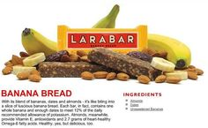 Homemade Banana Bread Larabars