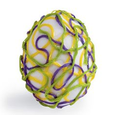 #Easter egg decoration with emroidery floss - with free instructions #easter_egg