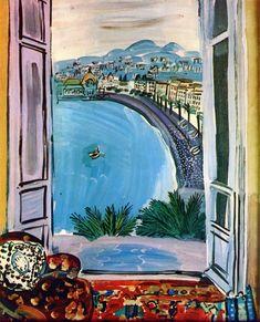 1953 Window at Nice. Raoul Dufy