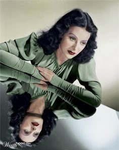 Somehow or other, we have come to think of glamor as the hothouse of variety of beauty. But Hedy Lamarr, the glamor girl of the . Hooray For Hollywood, Golden Age Of Hollywood, Vintage Hollywood, Hollywood Glamour, Hollywood Stars, Classic Hollywood, Divas, Hedy Lamarr, Portraits