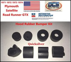 1971 1972 1973 1974 Plymouth Satellite Road Runner GTX Hood Bumper Kit MoPar USA #DCSDalesCudaShop