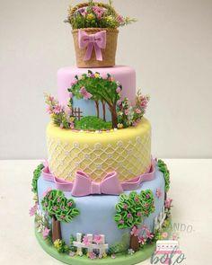 Beautiful garden themed cake