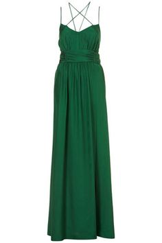 **LIMITED EDITION Emerald Silk Maxi Dress - aka I want right now, please.