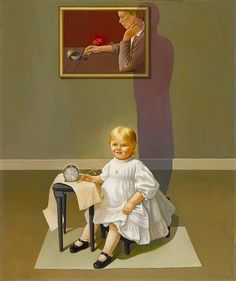 Double Portrait of the Artist in Time 1935 Helen Lundeberg Born- Chicago, Illinois 1908 Died- Los Angeles, California 1999 oil on fiberboard 47 3/4 x 40 in. (121.3 x 101.6 cm.) Smithsonian American Art Museum