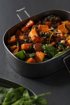 French Lentils Salad with Squash and Cheddar by The French Lunchbox