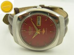 MECHANICAL CITIZEN AUTOMATIC JAPANESE MENS D/D WATCH~WARRANTY ON ALL PRODUCTS~ #Collectible
