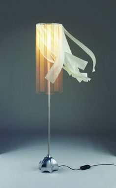 contemporary silk floor lamp MADONNA by Jan des Bouvrie Quasar Holland