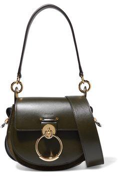 24543e61ec Chloé - Tess leather and suede shoulder bag