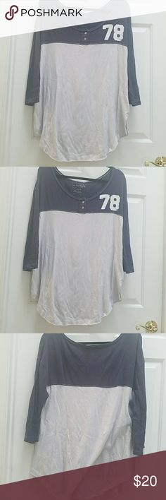 Free people football jersey Reposh..too big 4 me:(. Great cotton piece, only from FP, that we all 💗. Very roomy and big. Perfect for weekend games or lounging around Free People Tops