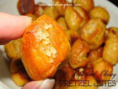 Soft and Chewy Pretzel Bites Recipe