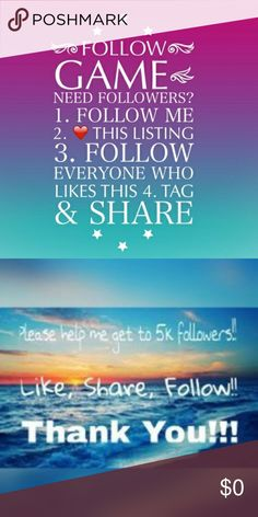 FOLLOW GAME - FOLLOW * LIKE * SHARE . Other