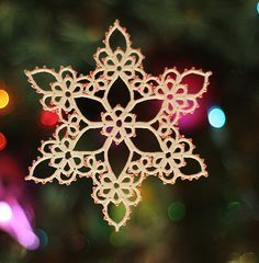 Joy Tatting Pattern PDF Snowflake tatted by TattingPoints on Etsy