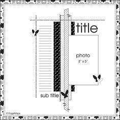 scrapbook layout sketch - 05.23.2011
