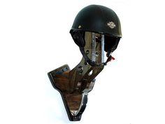 V-Twin Motorcycle Helmet Holder - Biker Equipment Rack - Wall Mount Sports Helmet Hanger - Biker Gear Rack - Motorcycle Helmet Display