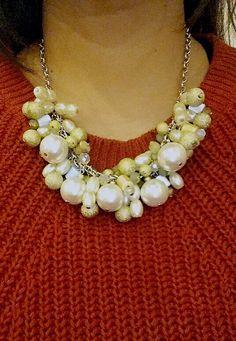 Greenish Anemone Necklace