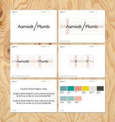 Nueva identidad visual de Aamodt/Plumb, por TwoPoints.Net