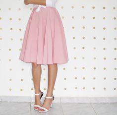 Resultado de imagem para saia rosa quartzo