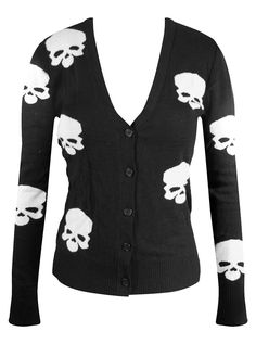 "Women's ""Miss Poison Skull"" Cardigan by Double Trouble Apparel (Black) #InkedShop #skull #cardigan #style #fashion"