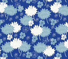 Moonlit_dalias fabric by maredesigns on Spoonflower - custom fabric