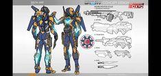 My Delta Unit design for Infinity, Corvus Belli Infinity Art, Infinity The Game, Character Concept, Character Art, Character Design, Fantasy Armor, Sci Fi Fantasy, Armor Concept, Concept Art