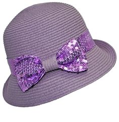 87c8317591d Lavender Cloche Hat with Sequined Bow. PURPLEologist