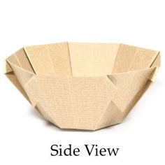 Side View Of Origami Bowl Instructions