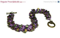 SALE Beaded Bracelet Beadweaving Handmade by SweetchildJewelry, $22.50  #CT #CIJ #Christmasinjuly