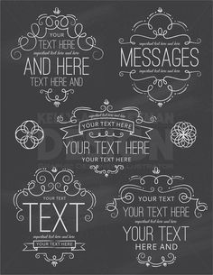 frames and borders This unique set of chalkboard digital labels are perfect for your small commercial or personal project. High quality JPEG, PNG and Vector files included. Chalkboard Lettering, Chalkboard Designs, Chalkboard Labels, Chalkboard Drawings, Chalkboard Numbers, Chalkboard Clipart, Chalk Fonts, Marco Digital, Herbalife Shake Recipes