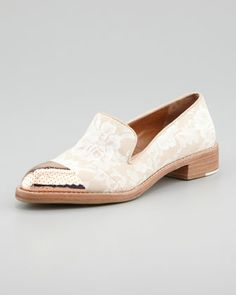 loafer combines a few of my spring faves - - - floral, metallic and loafers