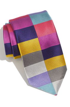 FUnky FUnky...    Duchamp 'Split Harlequin' Woven Silk Tie available at #Nordstrom