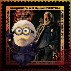 I,didn't know these were in Spanish but this is president snow as a minion